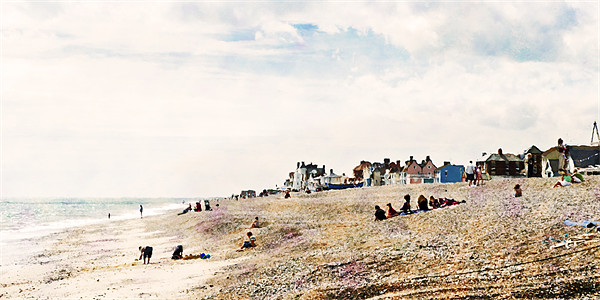 Aldeburgh Beach as Monet would've viewed it - may Canvas print by Stephen Mole