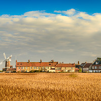 Buy canvas prints of Cley Mill over the fields by Stephen Mole