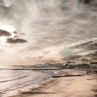 Buy canvas prints of Lowestoft Central Beach by Stephen Mole