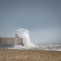 Buy canvas prints of Storm Dennis hits Folkestone by James Rowland