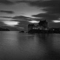 Buy canvas prints of Changing Light, Eilean Donan Castle by Martin Appleby