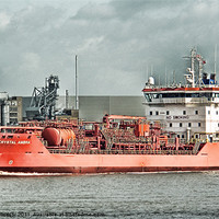 Buy canvas prints of CRYSTAL AMBRA TANKER by Dave Windsor