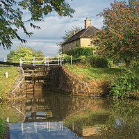 Buy canvas prints of Semington Lock and House More Detail by Dave Windsor