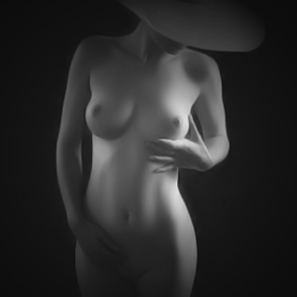 Nude Framed Mounted Print by Rick Olson
