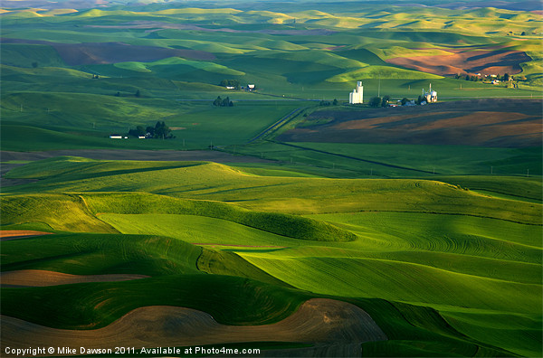 First light on the Palouse Print by Mike Dawson