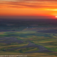 Buy canvas prints of Palouse Sunset by Mike Dawson