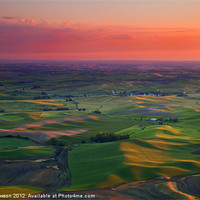 Buy canvas prints of Red Skies over the Palouse by Mike Dawson