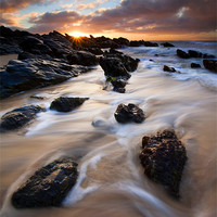 Buy canvas prints of Surrounded by the Tides by Mike Dawson