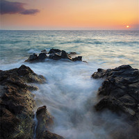 Buy canvas prints of Rocky Inlet Sunset by Mike Dawson