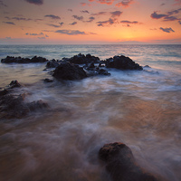 Buy canvas prints of Engulfed by the Sea by Mike Dawson