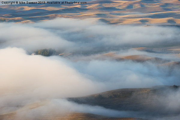 Palouse Morning Mist Print by Mike Dawson