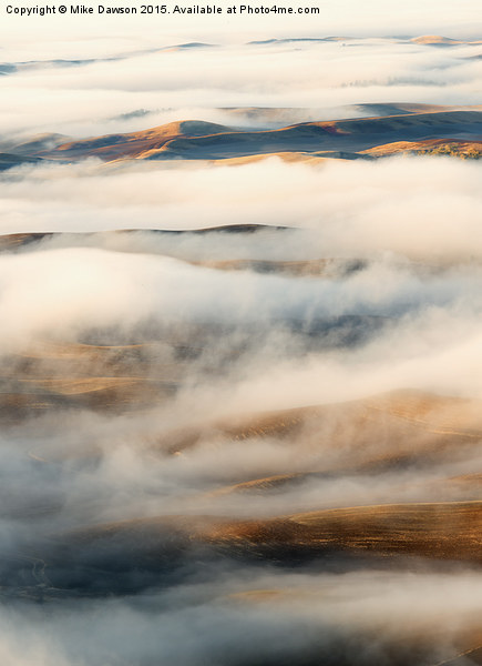 Palouse Fog Clears Print by Mike Dawson