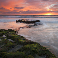 Buy canvas prints of Swamis Beach Sunset by Mike Dawson