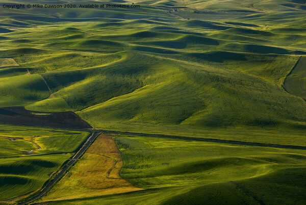 Textures of the Palouse Print by Mike Dawson