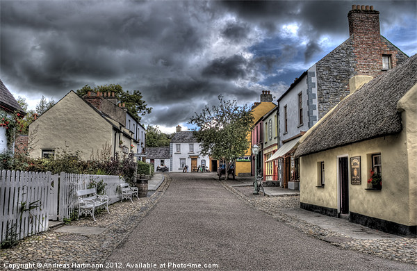 Before the Storm - Bunratty Folk Park Canvas print by Andreas Hartmann