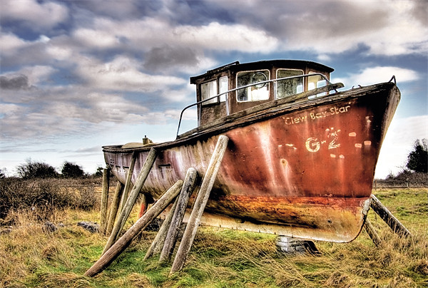 """Wreck of the """"Clew Bay Star"""" Canvas Print by Andreas Hartmann"""