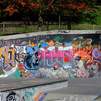 Buy canvas prints of Graffiti by Dave Wyllie