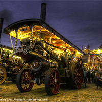 Buy canvas prints of Showmans Engine by night by Rob Hawkins