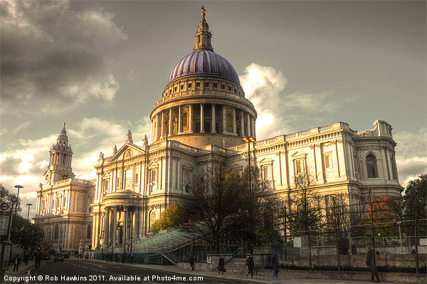 St Pauls Cathedral Canvas print by Rob Hawkins