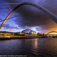Buy canvas prints of Fine Tyne sunset by Rob Hawkins