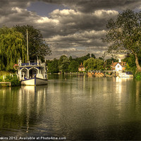 Buy canvas prints of The River Thames at Streatley by Rob Hawkins