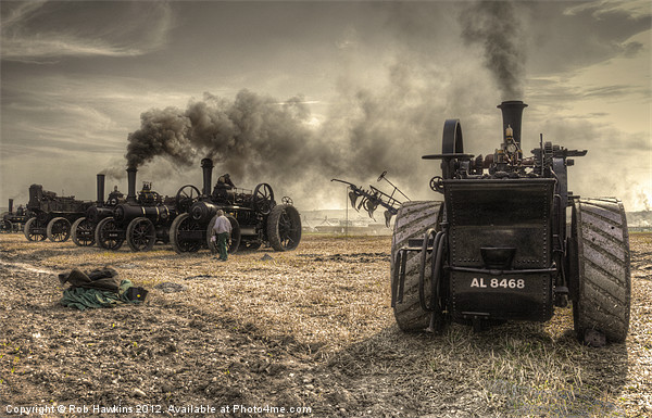 Steaming Giants Canvas print by Rob Hawkins