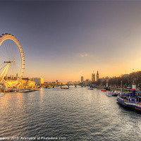 Buy canvas prints of Dusk on the Thames by Rob Hawkins