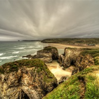 Buy canvas prints of Perranporth Beach by Rob Hawkins