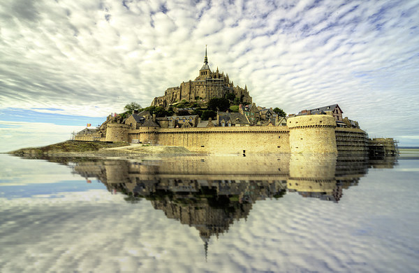 Mont St Michel Framed Mounted Print by Rob Hawkins