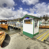 Buy canvas prints of Rowing Boats at Ambleside by Rob Hawkins