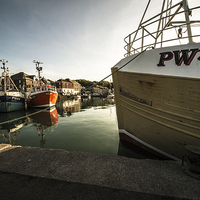 Buy canvas prints of Padstow Boats by Rob Hawkins