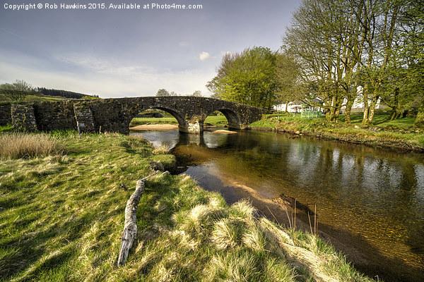 Dartmoor Bridge  Canvas Print by Rob Hawkins