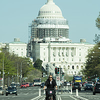 Buy canvas prints of Capitol Cycling  by Rob Hawkins