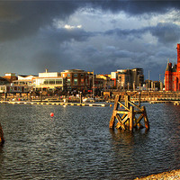 Buy canvas prints of Cardiff Bay HDR by Rob Hawkins