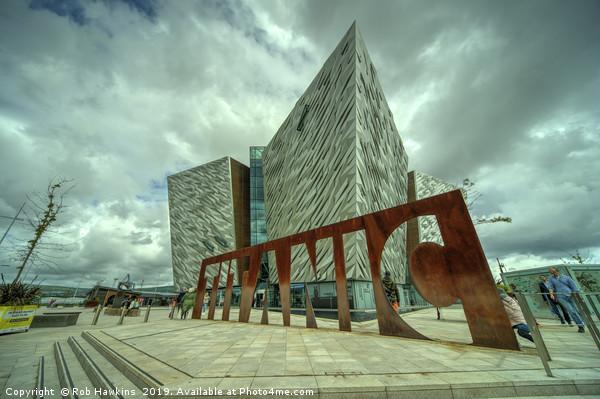 Belfast titanic  Canvas print by Rob Hawkins