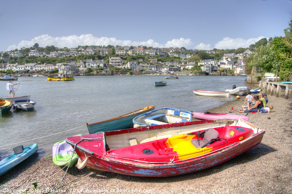 Noss Mayo Rowing Boat  Canvas Print by Rob Hawkins