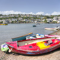 Buy canvas prints of Noss Mayo Rowing Boat  by Rob Hawkins