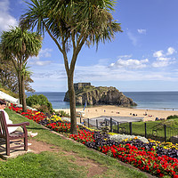 Buy canvas prints of Summer sun at Tenby  by Rob Hawkins