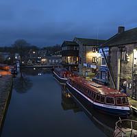 Buy canvas prints of Skipton Wharf by night  by Rob Hawkins