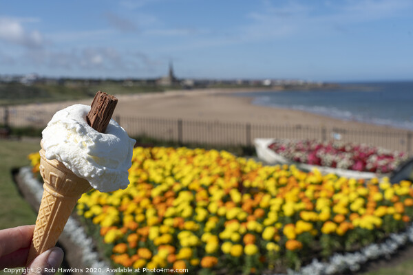 Whitley Bay Ice Cream  Acrylic by Rob Hawkins