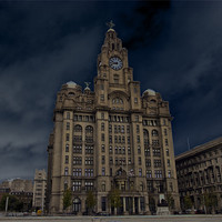 Buy canvas prints of Liver Building by les tobin