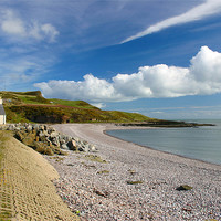 Buy canvas prints of Inverbervie Beach and Craig David by Douglas Kerr