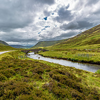 Buy canvas prints of Old Military Road Bridge Clunie Water by Douglas Kerr