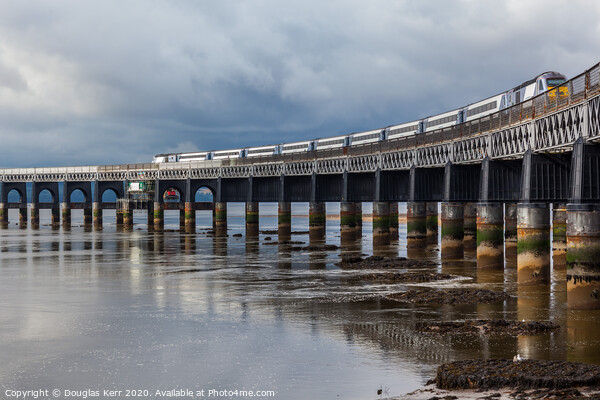 Tay Rail bridge Dundee Canvas Print by Douglas Kerr