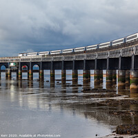 Buy canvas prints of Tay Rail bridge Dundee by Douglas Kerr