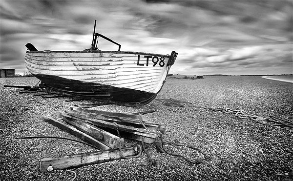 Dunwich Fishing Boat Canvas print by Mike Sherman Photography