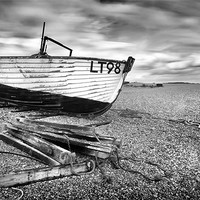 Buy canvas prints of Dunwich Fishing Boat by Mike Sherman Photography