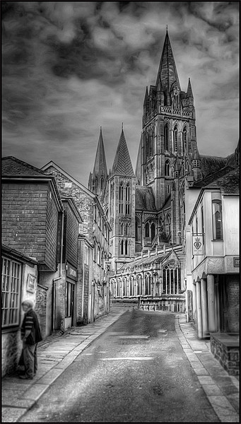 Truro Cathedral Canvas print by Mike Sherman Photography