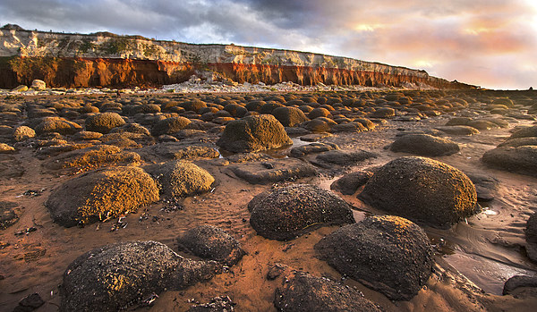 Old Hunstanton Rocks Canvas print by Mike Sherman Photography