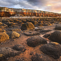 Buy canvas prints of Old Hunstanton Rocks by Mike Sherman Photography